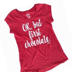 "Justice Girls Graphic ""Ok but First Chocolate"" Tee"